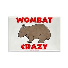 Wombat Crazy Rectangle Magnet