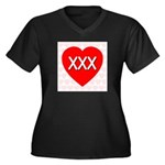 XXX Women's Plus Size V-Neck Dark T-Shirt