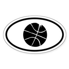 Basketball Oval Bumper Stickers