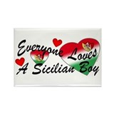 Loves a Sicilian Boy Rectangle Magnet