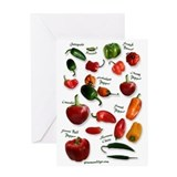 Hot Chili Peppers Greeting Card