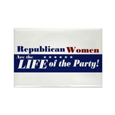 Republican Women Rectangle Magnet