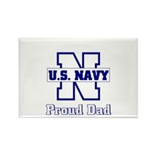 Proud Navy Dad Rectangle Magnet (10 pack)
