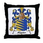 Alquier Family Crest Throw Pillow