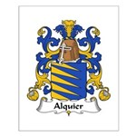 Alquier Family Crest Small Poster