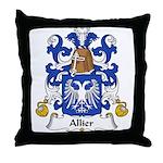 Allier Family Crest Throw Pillow
