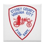 Virginia City Fire Department Tile Coaster