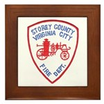 Virginia City Fire Department Framed Tile