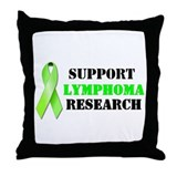 Support Lymphoma Research Throw Pillow