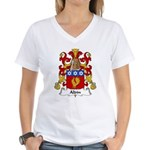 Aldin Family Crest Women's V-Neck T-Shirt