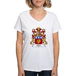 Aldin Family Crest Women's V-Neck T-Shirt