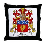Aldin Family Crest Throw Pillow