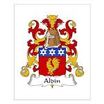 Aldin Family Crest Small Poster