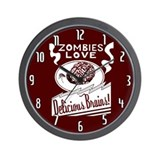 Zombies / Delicious Brains Wall Clock