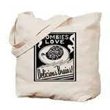 Zombies / Delicious Brains Tote Bag