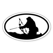 Bowhunting Oval Bumper Stickers