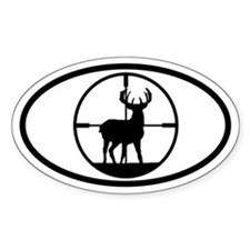 Hunting Stag Oval Decal
