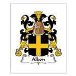 Albon Family Crest Small Poster