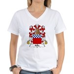 Ailly Family Crest Women's V-Neck T-Shirt