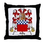 Ailly Family Crest Throw Pillow