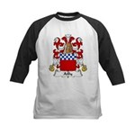 Ailly Family Crest Kids Baseball Jersey