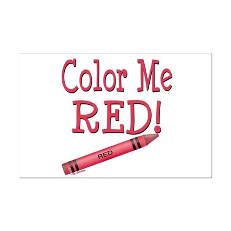 Color Me Red! Mini Poster Print