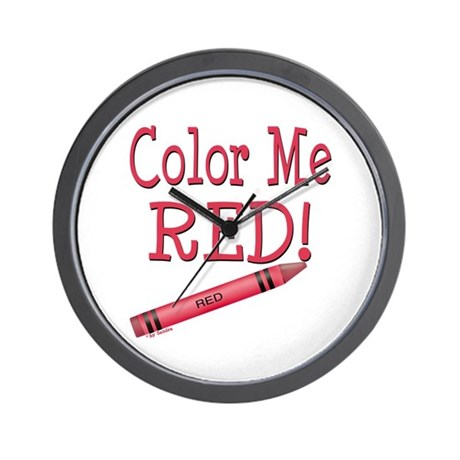 Color Me Red! Wall Clock