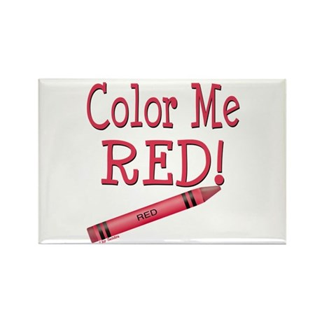 Color Me Red! Rectangle Magnet (100 pack)
