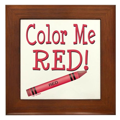 Color Me Red! Framed Tile
