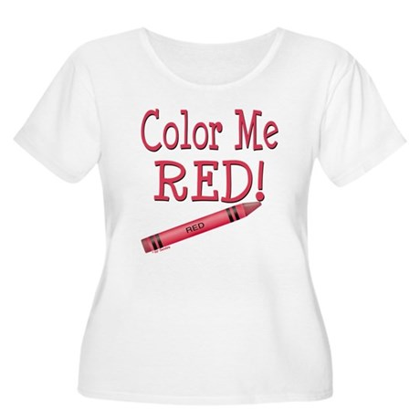 Color Me Red! Women's Plus Size Scoop Neck T-Shirt