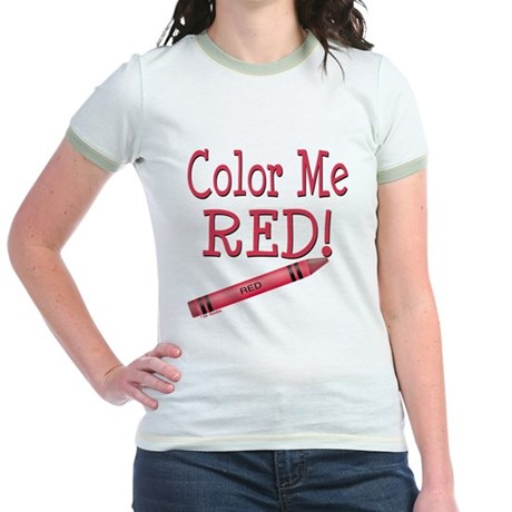 Color Me Red! Jr. Ringer T-Shirt