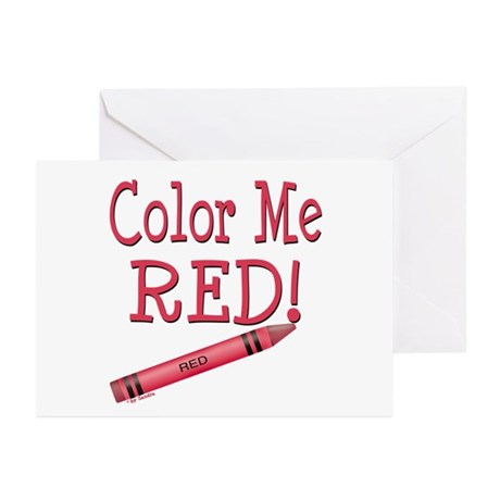 Color Me Red! Greeting Cards (Pk of 10)
