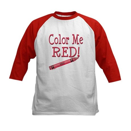Color Me Red! Kids Baseball Jersey