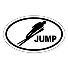 Ski Jumper Oval Decal
