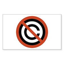No Copyright Rectangle Decal