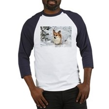 Snow White Corgi Baseball Jersey