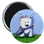 """Garden Helper Westie Pup 2.25"""" Magnet (100 pack)"""