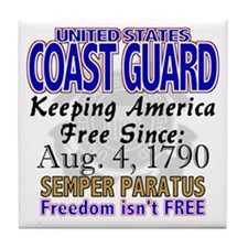 United States Coast Guard Freedom Isn't Free Tile