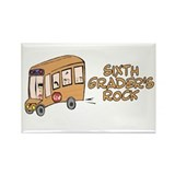 6th Grade Rectangle Magnet (100 pack)