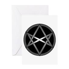 Unicursal Hexagram Greeting Card