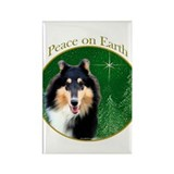 Collie Peace Rectangle Magnet