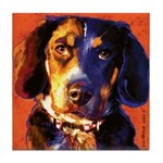 Coon Hound Tile Coaster