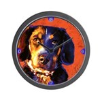 Coon Hound Wall Clock
