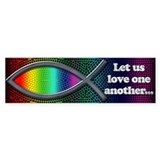 Let Us Love Bumper Bumper Sticker