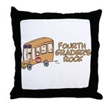 4th Grade Throw Pillow