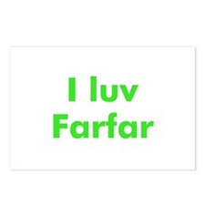 I luv Farfar Postcards (Package of 8)