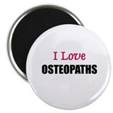 "I Love OSTEOPATHS 2.25"" Magnet (10 pack)"