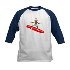 Sock Monkey Longboard Surfer Tee