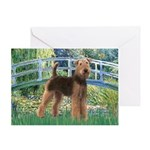 Bridge - Airedale #6 Greeting Card