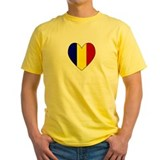 Romanian Flag Heart T